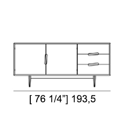 MALIBU' SIDEBOARD Specifiche Tecniche