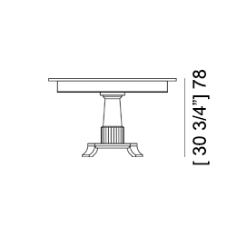 BIEDERMEIER TABLE Specifiche Tecniche