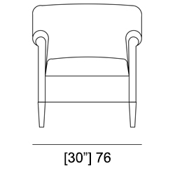 '900 CLUB ARMCHAIR Specifiche Tecniche